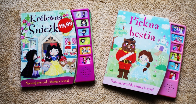 Królewna Śnieżka i Piękna i bestia - książeczki dźwiękowe