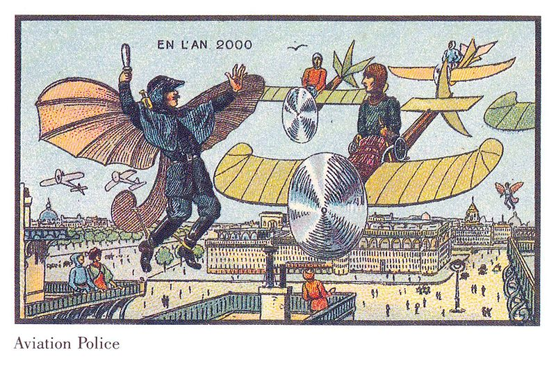 11-Aviation-Police-JVillemard-En-L-An-2000-wikimedia-Futurism-with-Illustrated-Postcards-from-the-1900s-www-designstack-co
