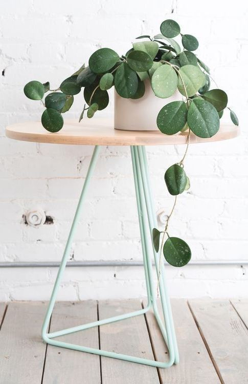maple mint metal side table photo tommy mcadams