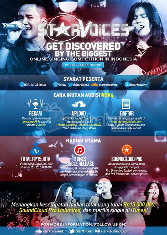 Kontes Menyanyi StarVoice Berhadiah Uang 15 Juta
