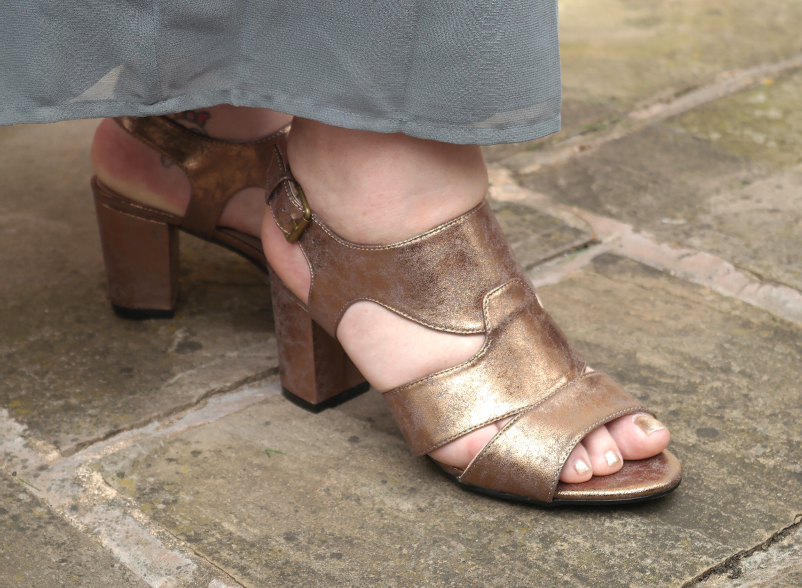 Evans Bronze Metallic Sandals