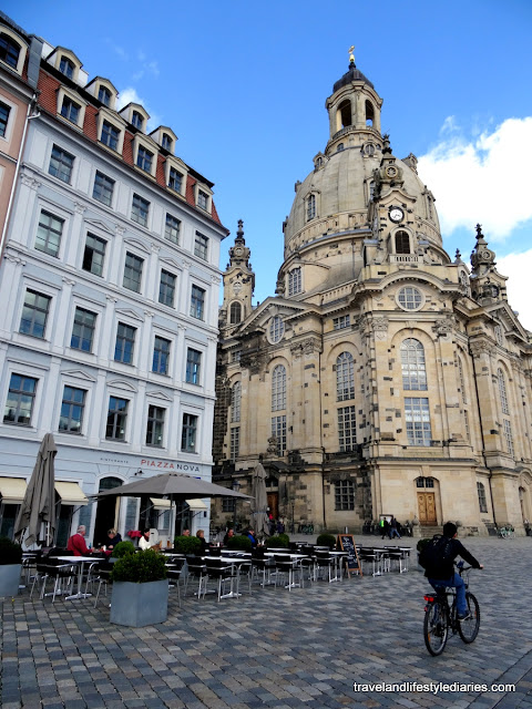 Dresden, Germany: The Furstenzug Mural, the Neumarkt, the Frauenkirche and Augustiner's Apricot Dumplings