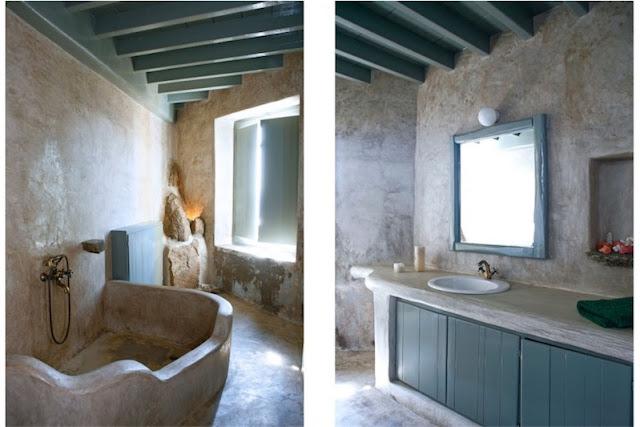 baño de microcemento beige chicanddeco