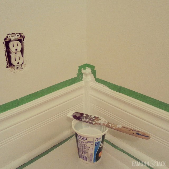 Painting wall trim using painters tape
