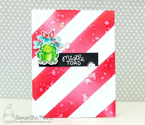 Toad Christmas Card by Samanta Mann | Mistle Toad Stamp Set by Newton's Nook Designs #newtonsnook #handmade