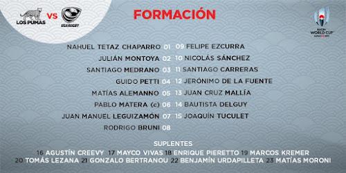 Los Pumas con equipo confirmado ante Estados Unidos #RWC2019
