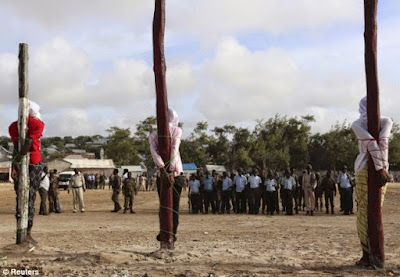 (File photo) Al-Shabaab militants executed by firing squad by Somali authorities