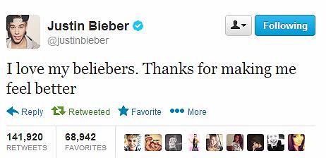 UMBCMCS355Spring17: R6: Justin Bieber on Twitter