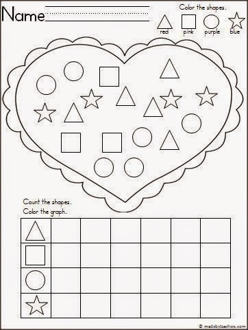 Grab this Valentine Shape Graph sheet here