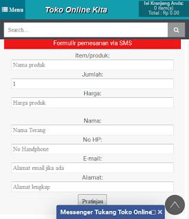 Form Order via SMS