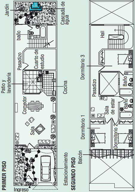 Planos arquitect nicos de casa habitaci n de 2 niveles con for Planos arquitectonicos de casa habitacion