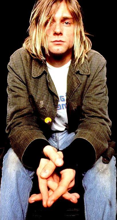 Foto de Kurt Cobain sentado