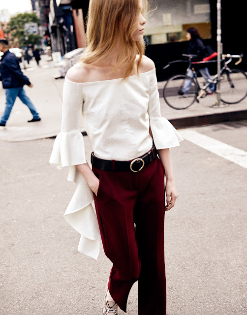 Julia Hafstorm with top by Ellery on Cool Chic Style Fashion