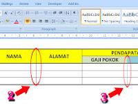 Cara Membuat Garis Tabel Tebal, Tipis dan Putus-putus di Microsoft Word