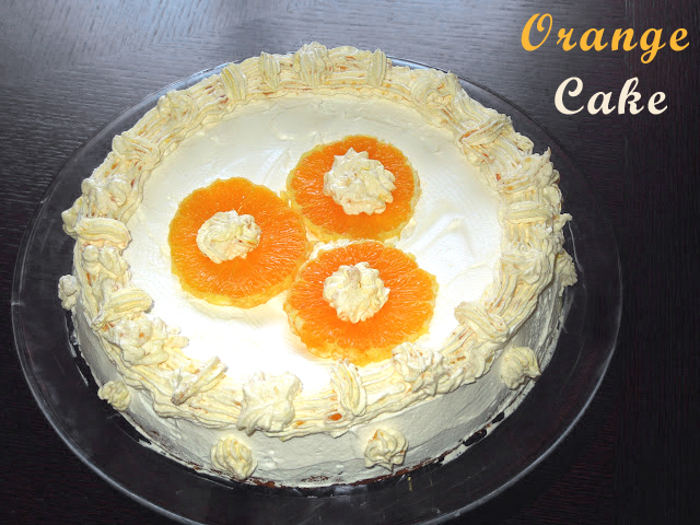 Eggless Orange Cake by veggierecipehouse