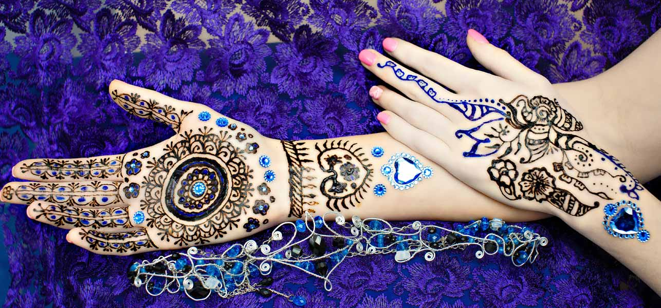 Colorful Mehndi Designs For Hands