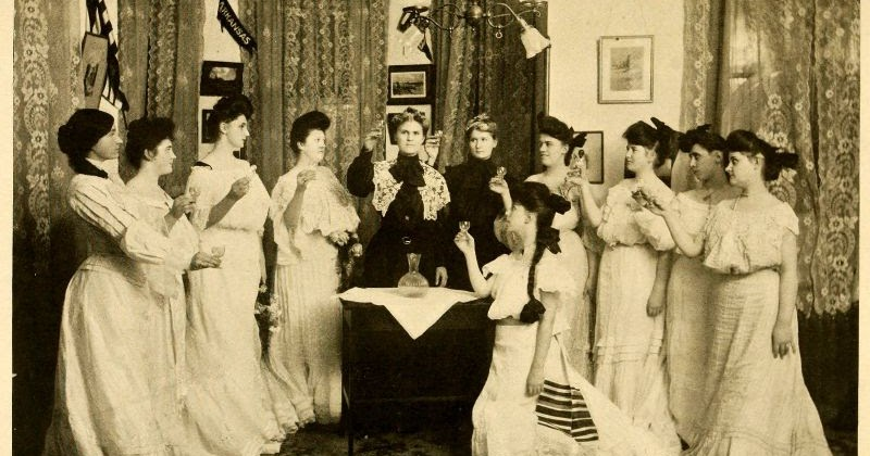 Pictures of Clubs at North Carolina Women's Colleges in the Early 20th Century