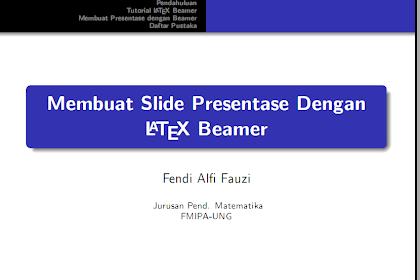 Membuat Presentase dengan $\LaTeX$ Beamer