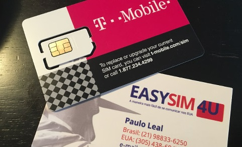 Chip de celular da EasySIM4U Los Angeles