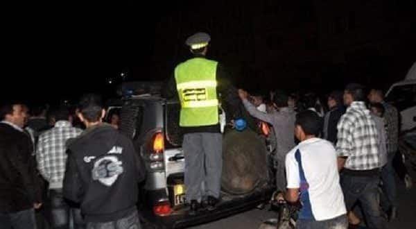 اعتقال سائق سيارة دهس دركي بحاجز للمراقبة ضواحي طنجة