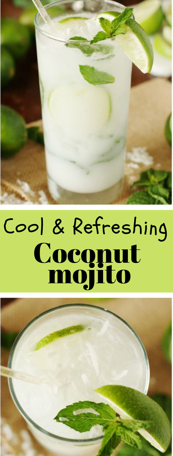 COCONUT MOJITO #drinks #healthydrinks