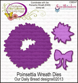 Our Daily Bread Designs Custom Poinsettia Wreath Dies