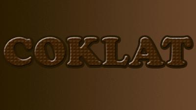 Efek Teks Coklat Dengan Photoshop