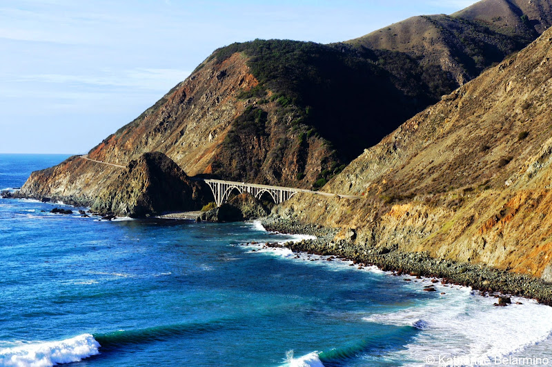 Big Creek Bridge California Coastal Drive Through Big Sur