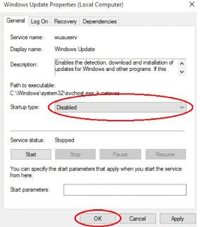 Cara Menonaktivkan Windows update