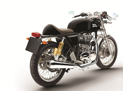 Royal Enfield Continental GT black colour rear image