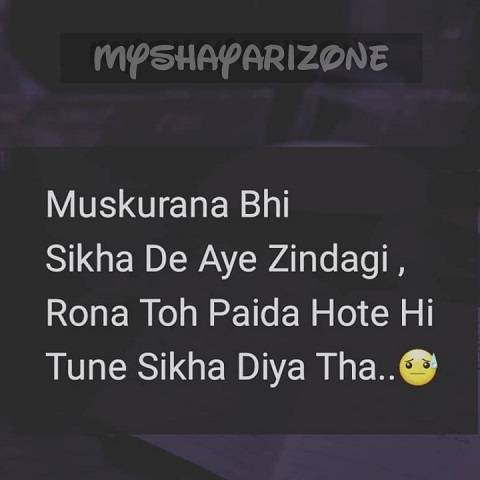 Two Lines Aansu Bhari Zindagi Shayari Whatsapp Image Status Wallpaper in Hindi