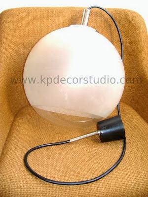 Lampara vintage años 70 bola cristal