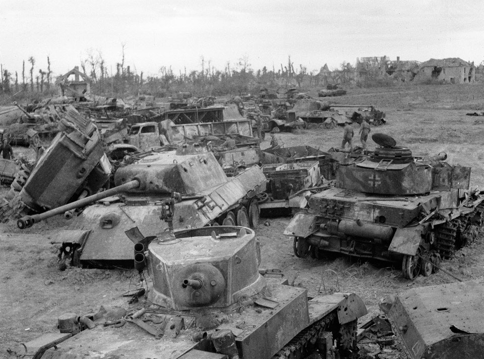 Just A Car Guy: Tank junkyards near Normandy