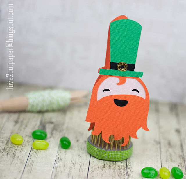 Leprechaun Shaped Card, St Patrick's, St Patricks Day, Luck of the Irish, ilove2cutpaper, LD, Lettering Delights, Pazzles, Pazzles Inspiration, Pazzles Inspiration Vue, Inspiration Vue, Print and Cut, svg, cutting files, templates, Silhouette Cameo cutting machine, Brother Scan and Cut, Cricut