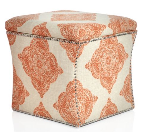 patterned storage ottoman - Jeri's Organizing & Decluttering News: Small Space Solutions