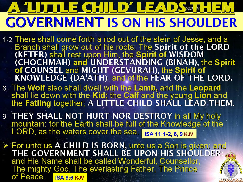 The MESSIANIC KABBALAH REVOLUTION!: WHO IS THE 'LITTLE CHILD