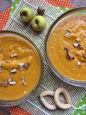 Crema de boniato y manzana al garam masala