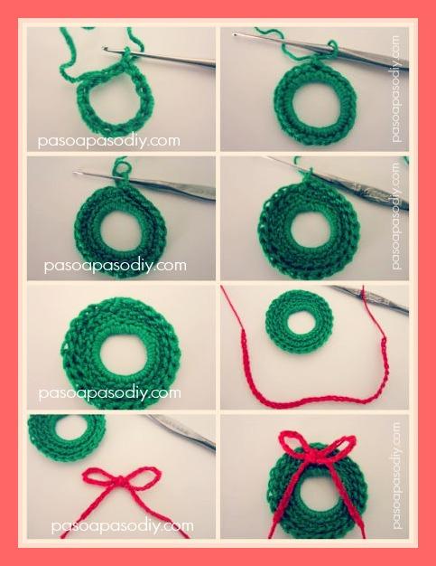 cómo hacer adornos de navidad tejidos