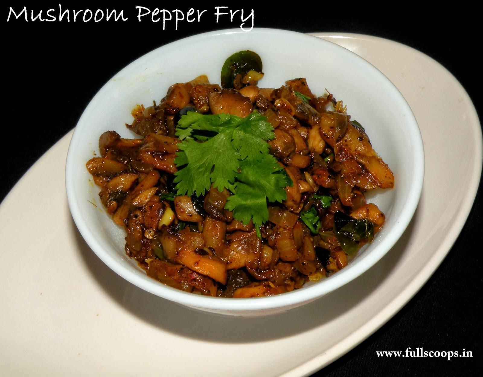 Mushroom Pepper Fry