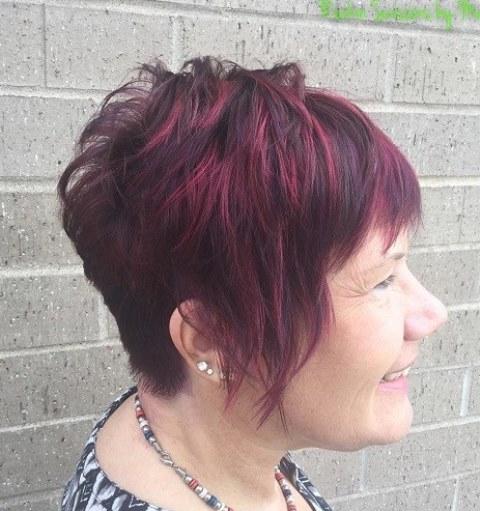 Potongan Rambut Merah