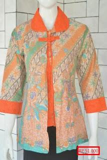 Baju Kerja Batik Wanita Muslimah Modern