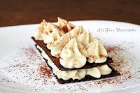 Milhojas de chocolate y crema de castañas (casera)