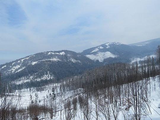 Widok na Mały i Wielki Kopieniec spod Nosalowej Przełęczy.