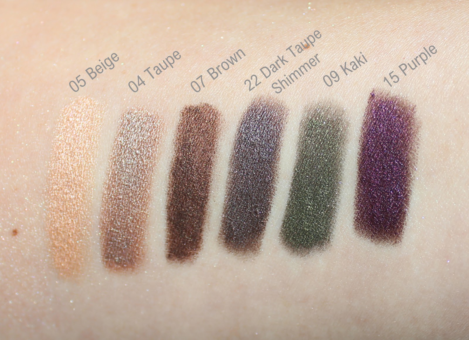 Sephora Collection: Colorful Shadow & Liner Swatches