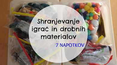 Shranjevanje igrač in drobnih materialov