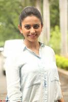 Rakul Preet Singh in Jeans and White Shirt At Jaya Janaki Nayaka le Logo Launch ~  Exclusive 060.JPG