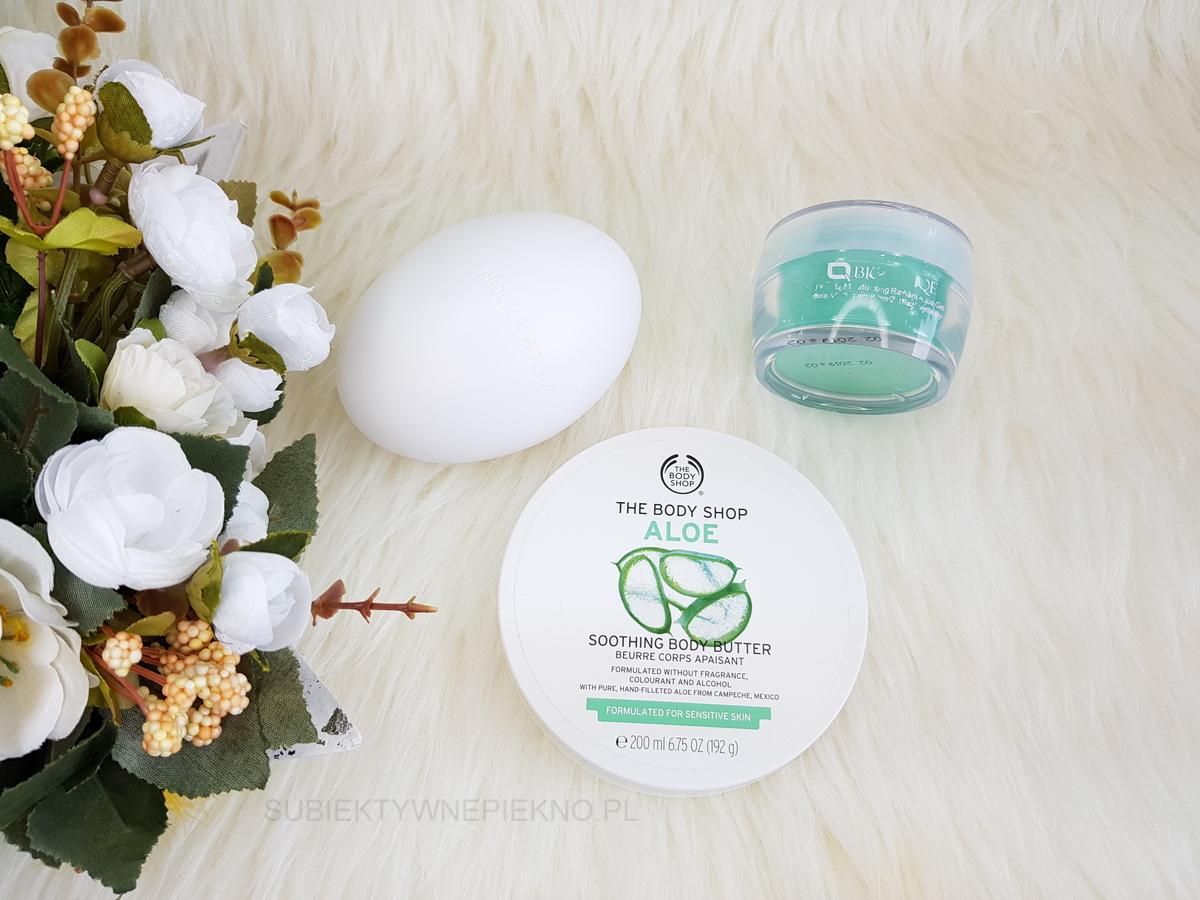 ULUBIEŃCY KWIECIEŃ 2018: masło The Body Shop, peeling Holika Holika, krem Biotaniqe