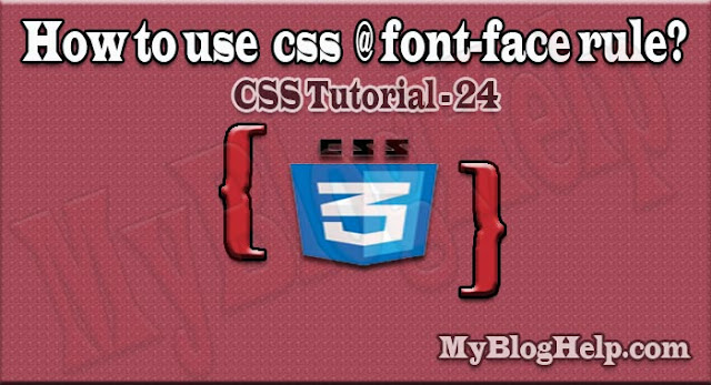 css @font-face rule