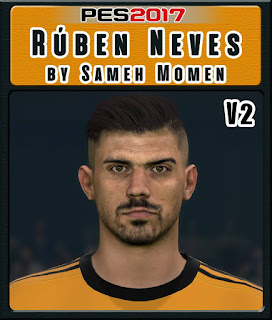 PES 2017 Faces Rúben Neves by Sameh Momen