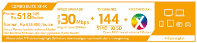 Paket Promo FIrst Media Combo Elite X1 4K
